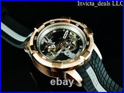 Invicta Men's 50mm S1 Rally AUTOMATIC Skeletonized Dial Black/Rose Tone SS Watch