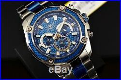 Invicta Men's Aviator Ocean Blue Carbonfiber Chronograph SS Bracelet Watch 22804