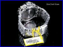 Invicta RESERVE VENOM HYBRID MASTER CALENDAR BLACK DIAL Silver BRACELET WATCH