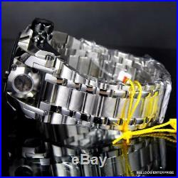 Invicta Reserve Bolt Zeus Magnum Swiss Steel Black Dual Dials 52mm Watch New