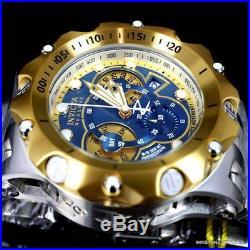 Invicta Reserve Venom Hybrid 52mm Gold Two Tone Steel Swiss Mvt Blue Watch New