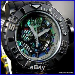 Invicta Sea Hunter Gen II 70mm Abalone Swiss Mvt Black Steel Watch Chrono New