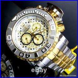 Invicta Sea Hunter Gen II 70mm Steel Chronograph Two Tone Gold Swiss Watch New