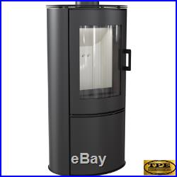 KOZA AB/S Modern Contemporary Free Standing Stove Curved Wood Burner 8kw