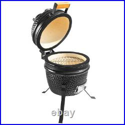 Kamado Egg Ceramic Charcoal BBQ Barbecue Grill Roaster Smoker 13 Portable Stand
