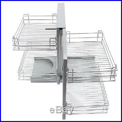Magic Corner Kitchen Baskets Pull Left Hand Slide Out Wire Storage 800 900mm