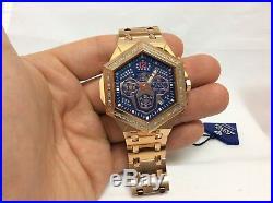 Men Aqua Master Jojo Jojino Joe Rodeo Rose Metal Band 48mm Diamond Watch W#356-4
