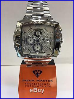 Men Aqua Master Jojo Jojino Joe Rodeo ST. STE Metal Band 51mm Diamond Watch W#354