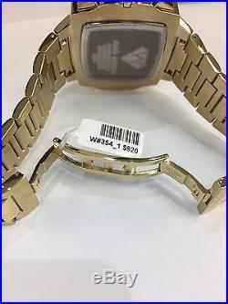Men Aqua Master Jojo Jojino Joe Rodeo Yellow Metal Band 51mm Diamond Watch W#354