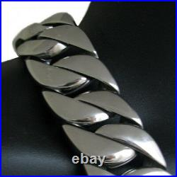 Men's Heavy 30MM Thick Chain Silver Cuban 316L Stainless Steel Huge 28 Necklace
