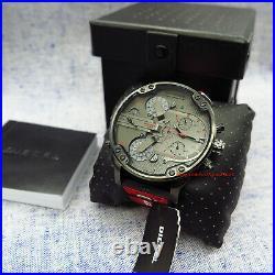 Men's Watch Diesel DZ7423 Mr. Daddy 2.0 Red Band Gunmetal Gray Dial Chronograph