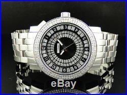 Mens 47 MM Jojino/Joe Rodeo Aqua Master Black Metal Band Diamond Watch Mj-1174