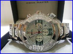 Mens Aqua Master Jojo Jojino Joe Rodeo St. St Metal Band 45mm Diamond Watch W#96