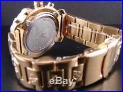 Mens Aqua Master Jojo Jojino Joe Rodeo Yellow Metal Band 45mm Diamond Watch W#96
