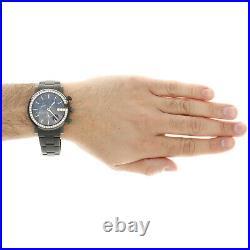 Mens Black PVD Diamond Gucci Ya101339 G-Watch Black Dial 44mm Chronograph 2 CT