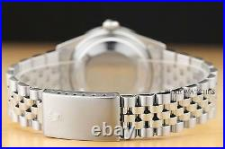 Mens Rolex Datejust Ice Blue Diamond Dial 18k White Gold & Steel Watch
