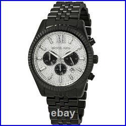 Michael Kors MK8605 Crystal Black Tone Lexington Chronograph Men's Wrist Watch