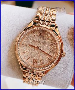 Michael Kors Women's Mindy Rose Gold Tone Watch MK7085 SHIPS TODAY