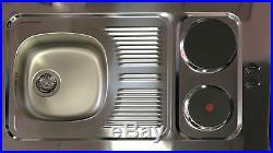 Mini Kitchen Kitchen Kitchenette Single Kitchenette 100 cm White