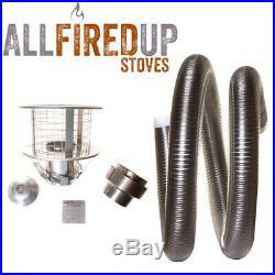 Multifuel Flexible Flue Liner 316 Install Kit 6 Wood Burning Stove 5 To 6