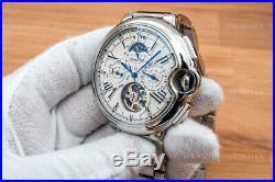 NEW Mens Flywheel Luxury Open Heart Skeleton Automatic Mechanical Metal Watch