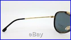 NEW Versace sunglasses VE2193 142887 56 Gold/Black Grey AUTHENTIC Aviator Men's