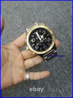 NIXON A0831922 Watch New Gold Blue-sunray 51-30 Chrono men A083-1922 Genuine