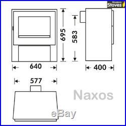 Naxos 10kw Wood Burning Multi fuel, Burner Log Fire Modern Stove