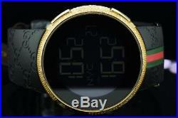 New Mens Custom Yellow Full I-Gucci Digital Ya114207 White Diamond Watch 2.5CT