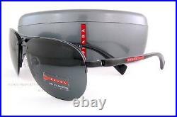 New Prada Sport Linea Rossa Sunglasses PS 56M 56MS 1BO/1A1 Black For Men