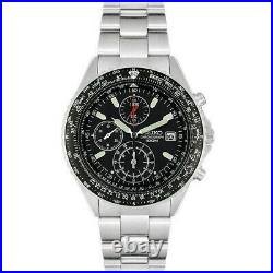 New Seiko Mens Flightmaster Pilot Chronograph Watch Snd253p1 Rrp £279