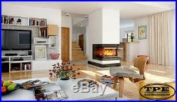 OLIWIA 18 Three sided Cast Iron Wood/Log Burning Fireplace insert Wood burner