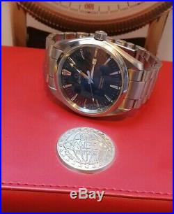Omega Seamaster Aqua Terra 150M 39mm Steel Bracelet Metallic Blue Dial