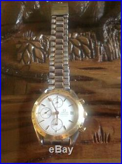 Omega Speedmaster bi-metal automatic chronograph stunning