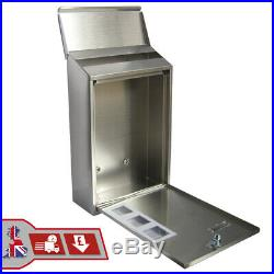 Outdoor Wall Mounted Mailbox Lockable Metal Mail Letter Post Secure Box Postbox