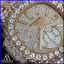 PATEK PHILIPPE Nautilus Diamond 18kt Rose Gold Chronograph Automatic 5980-1R-001