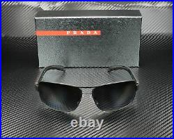 PRADA LINEA ROSSA PS 54IS DG05W1 Black Rub Polarized Grey 65 mm Men's Sunglasses