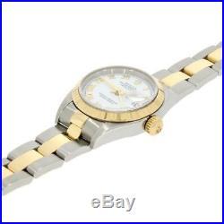 Pre Owned Rolex Oyster Perpetual Datejust Bi Metal Ladies Watch 79173 RW0300