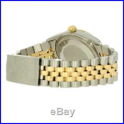 Pre Owned Rolex Oyster Perpetual Datejust Bi Metal Mens Watch 16013 RW0288
