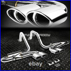 Quad 4.25 Oval Muffler Tip Catback Exhaust System For 97-04 Corvette C5/z06 Ls