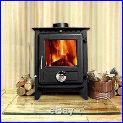 Reepham Clean Burn Modern Log Burner Multi Fuel Woodburning Stove Fireplace New