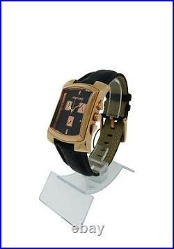 Roberto Cavalli R7251900125 Tomahawk Men's Black Analog Date Chronograph Watch