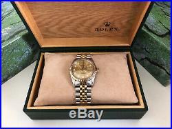 Rolex DateJust 16013, Bi Metal, FACTORY Jubilee Diamond Dial