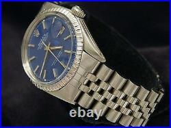 Rolex Datejust Mens Stainless Steel with Submariner Blue Dial & Jubilee Band 1603