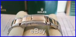 Rolex Daytona Bi-Metal 18k Gold Stainless Engraved Rehaut RARE Grey Dial 116523