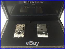 S. T. Dupont James Bond Spectre 007 Palladium Ligne 2 Lighter, 16156, New In Box
