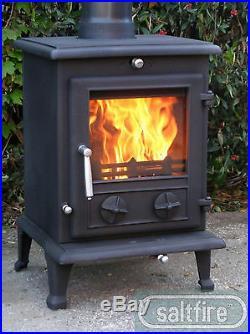 Saltfire Oslo-Eco 8kW DEFRA Eco Design Wood Burning Multi-fuel Stove Clean Burn