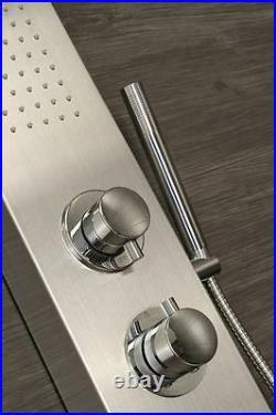 Shower Panel Column Tower with Body Jets Waterfall Bathroom Thermostatic Manual
