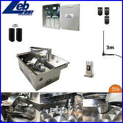 Single Electric Gate Kit Underground 230V with Stainless Steel Box and Lid