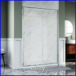 Sliding Door Shower Enclosure and tray Cubicle Screen Easy Clean Glass Bathroom